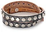 COWBOYSBELT, THE BRACELET 2468, Armband, Leder, Lederarmband, Dunkelgrau, 44x1 cm (LxB)