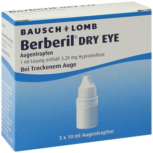 Berberil Dry Eye Augentro 3X10 ml