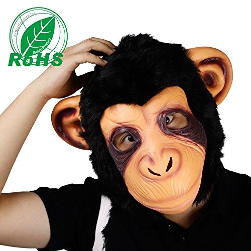n Kostüm Party Latex Tier Gorilla Kopf Maske für Erwachsene (Gorilla Erwachsenen Halloween Kostüme)