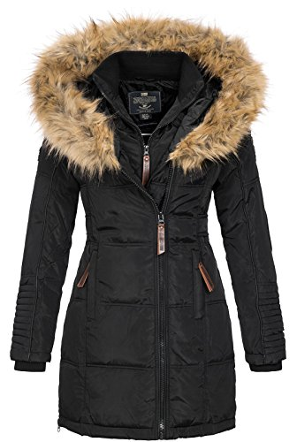 Geographical Norway Damen Jacke Winterparka Belissima XL-Fellkapuze black S