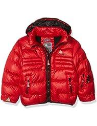 Peak Mountain ECAPTI–Anorak para niño, Niño, color rojo, tamaño 16 años