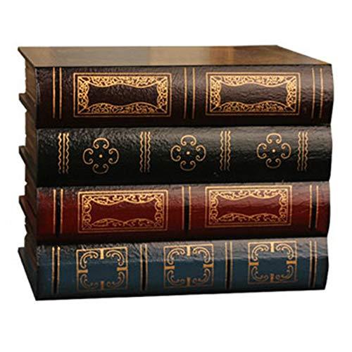 WOVELOT Caja De Libro Falso Accesorios De Almacenamiento Vintage Embalaje De Almacenamiento De Joyas...