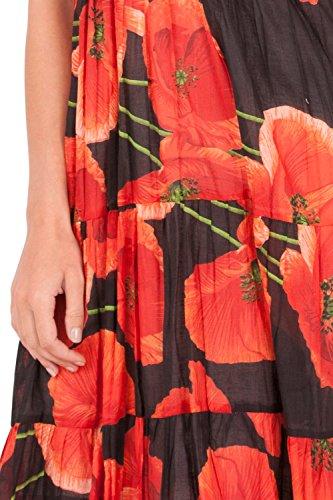 Dannii Matthews - Robe - Portefeuille - À Fleurs - Sans Manche - Femme rouge Red red
