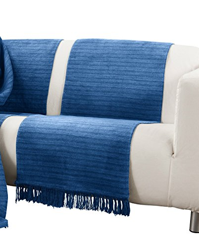Ibena Sofaläufer Baumwollmischung blau Größe 50x200 cm