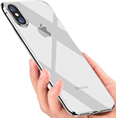 iPhone X hülle, Mixigoo iPhone X Handyhülle Crystal Schutzhülle Silikon Soft Hülle Ultradünn TPU Bumper Cover Kratzfeste Weich Hülle für Apple iPhone X Case Cover - Transparent