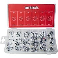 Am-Tech 100 piezas Surtido de tuercas de bloqueo, S6220