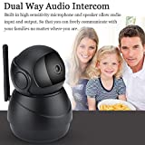Zunate IP-Kamera,HD WiFi Überwachungskamera,mit 360°Schwenkbar,Home und Baby Monitor mit Bewegungserkennung, Zwei-Wege-Audio, Nachtsicht,3D-Navigationsfunktion,unterstützt Fernalarm App Kontrolle(EU)