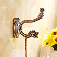 Coat Hook then hook solid garment hook CLOTHES HOOK Living Room Bathroom door rear hook continental Wall hooks,Extreme Dragon-Rose Gold