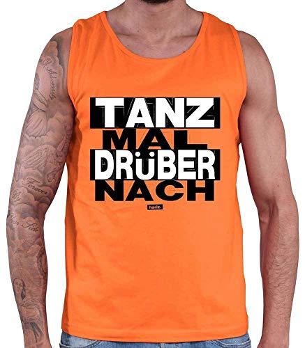 Kostüm Zitate Tanz - HARIZ Herren Tank Top Tanz Mal Drüber Nach Sprüche Schwarz Weiß Inkl. Geschenk Karte Orange M