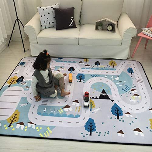 Edelehu Kids Teppich Kinderspielzeug Teppich Sicher und Lustige Kinder Lernen Teppich Schlafzimmer und Kindergarten mit Rutschfesten Kid Play Mat Für (Lernen Teppiche Für Kinder)