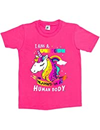 Fancy A Snuggle I Am A Unicorn Trapped In A Human Body Kids Girls T-Shirt