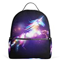 JSTEL Unicorn Magic with Stars School Backpacks for Girls Kids Elementary School Shoulder Bag Bookbag