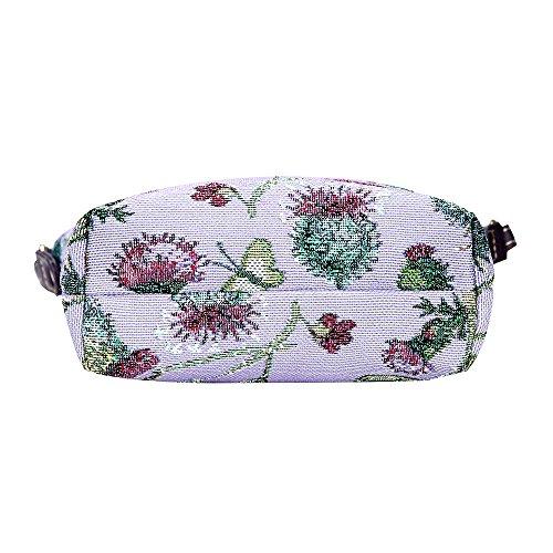 Modische Tapisserie Damen Schlingetasche oder Messengertasche Distel