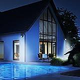Grafner® LED - Solar Strahler mit Bewegungsmelder Solarleuchte 2 Modi Dämmerungsschalter IP44 Wasserfest Energiesparend schwarz