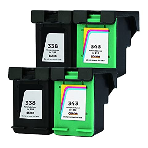 DOREE Remanufactured Ink Cartridges Replacement for HP 338 HP 344