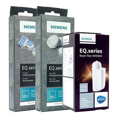1x SIEMENS BRITA Intenza Wasserfilter (TZ70003) + 1x SIEMENS Reinigungstabletten (TZ80001) + 1x SIEMENS Entkalkungstabletten (TZ80002)