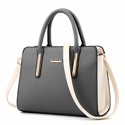 Art Und Weisehandtasche Weibliches Schiefes Kreuz Weibliches Paket Einfache Reine Farbe Kleine Quadratische Tasche Dunkelgrau