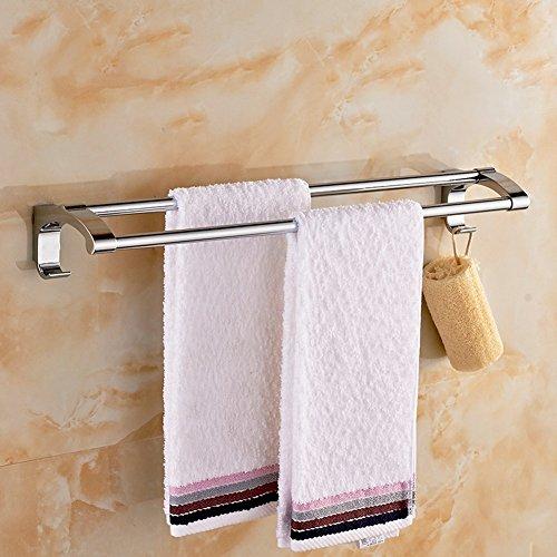 ZHGI Acciaio inox asciugamani da bagno asciugamani da bagno bar Sala da bagno in acciaio inox a doppio tirante di