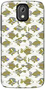 The Racoon Grip printed designer hard back mobile phone case cover for HTC Desire 526G Plus. (Olive Orna)