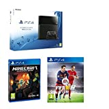 Sony PlayStation 4 PS4 1TB gaming Console With PS4 FIFA 16 PS4 game Minecraft PS4 Game great Value for the Over 7 Kids by PlayStation 4