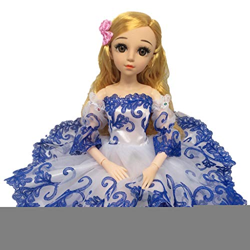 Baoblaze Schönes Trägerlose Puppenkleid Hochzeitskleid Kleid Kleidung für 1/3 Bjd Nacht Lolita Puppe Dress up - Blau -