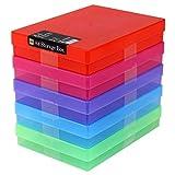 WestonBoxes A4Kunststoff Craft Aufbewahrungsboxen–Mehrfarbig (5Stück)