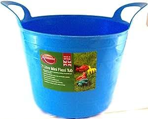 7L Mini panier Flexible en caoutchouc Bac de stockage de jardinage bricolage domestique–Bleu
