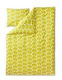 Finlayson elefantti Bettbezug-Set mit Kissen Fall für Kinder, Baumwolle, Gelb, 120x 160cm