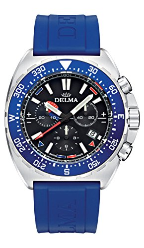 Delma - Herrenuhr Chronograph Quarz schwarz/blau - 407078