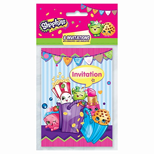 Shopkins Party Invitations [8 per Pack]