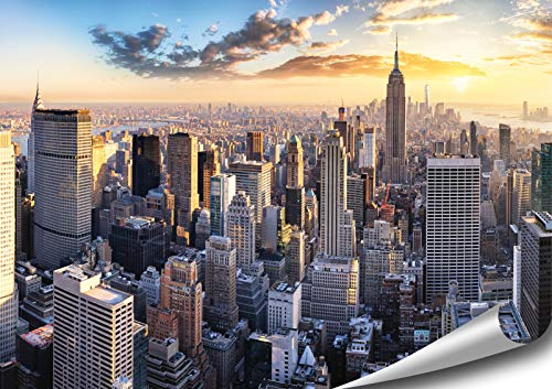 ARTBAY New York Poster HD XXL - 118,8 x 84 cm - Manhattan, New York, USA | Premium Qualität -