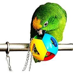 ECOOLBUY - Lote de 3 Bonitos Juguetes para Masticar y morder, diseño de pájaros