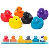 Rubber Duck Baby Bath Toys Pack of 6 With Sealed Bottoms – Prevents Mould Build Up