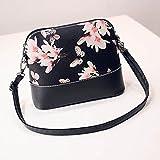 "Shoulder Bag Longra® Women Flower Print Graffiti Retro PU Leather Shoulder Bag Purse , Beautiful Butterfly , Flower , Clock Pattern , 4 Style Choose (4Size: 20*23*4cm/7.9*9.1*1.6"")"