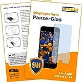 Iphone 6 Beste Deals - mumbi Panzerglas iPhone 6 6S Panzerfolie Glasfolie 9H (bewusst kleiner als das Display, da dieses gewölbt ist)