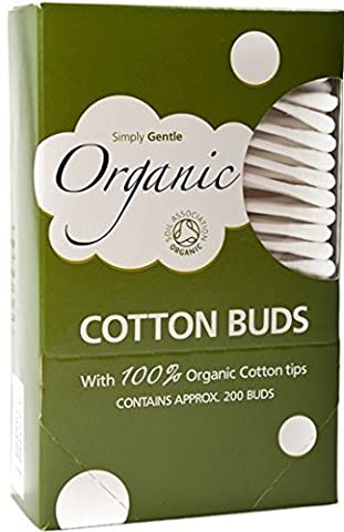 4 Packs of Simply Gentle Organic Cotton Buds - (4 * 200 Buds)