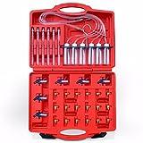 MCTECH Common Rail Injektoren Mengenmesser Einspritzdüsen Rücklaufmengen Tester Kit Prüfer Rückfluss Rücklauf Messgerät CDI Common Rail mit 24PCS Adapter