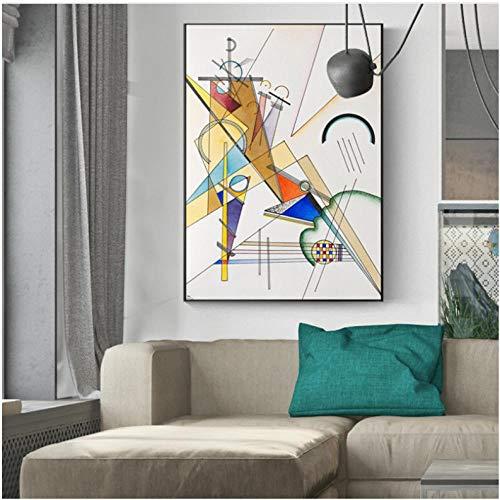 Póster abstracto patrones geométricos cuadro decorativo