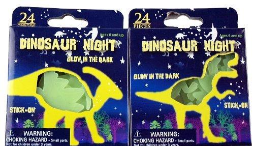 Kandy Wandaufkleber-Set, 48Dinosaurier-Aufkleber, leuchten im Dunkeln, Kunststoff, plastik, Einzelpackung