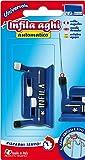 Parodi&Parodi, infila aghi, art. 690, macchina infila ago manuale automatica per macchina da cucire, utilizzabile sia per aghi grossi che fini, portatile e leggera, brevetto made in Italy