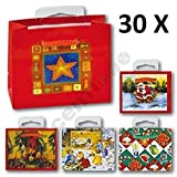 30 Stück Mini Geschenktüten, MICRO, Weihnachten 8x6,5x3,5cm