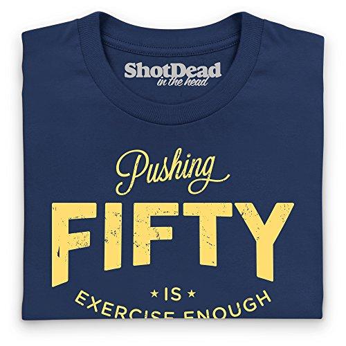 Pushing Fifty T-Shirt, Herren Dunkelblau