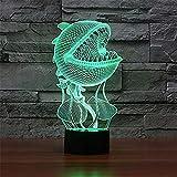 WJPDELP-YEDE 7 Farbwechsel Phantasie Blume LED nachtlicht 3D luminaria tischlampe wohnkultur nachttischleuchte für Kinder Urlaub Geschenk