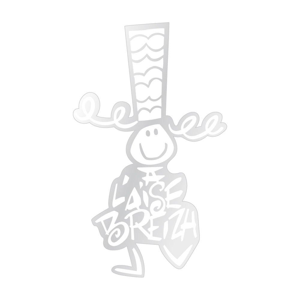 Sticker A l'Aise Breizh blanc