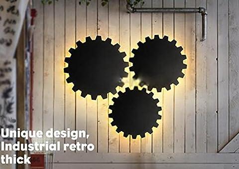 fsliving Loft Retro Cafe Industrie Gang Deko Balkon Wand Beleuchtung Restaurant Bar Eisen Gear (Fluorescent Hanging Outdoor-wand)