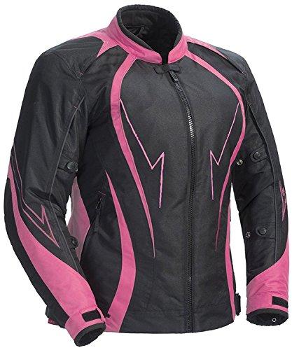 Juicy Trendz Damen Motorradjacke Frauen Wasserdicht Cordura Textil Motorrad Jacke Pink X-Large (JT-153) - Motorrad-jacke