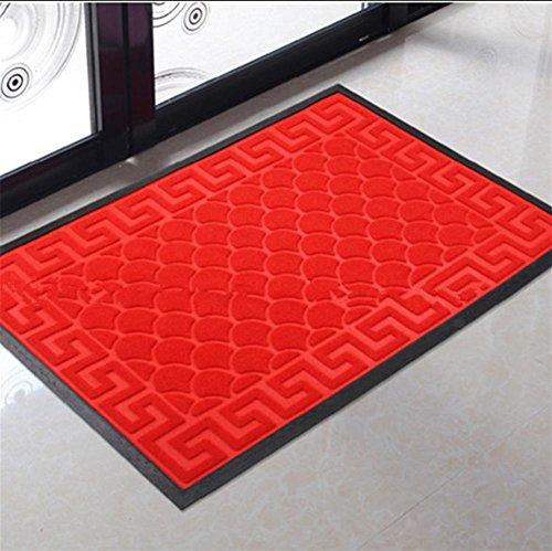 LYD® Teppichmatten Einfaches Modernes Zuhause Ultradünnes Pvc-Foyer Gummi-Teppich-Tür Staubabsaugung Rutschfeste Heimatmatte 50Cm * 80Cm