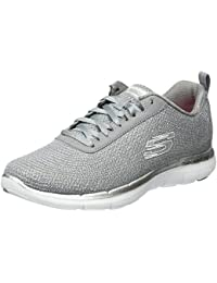 Skechers Damen Flex Appeal 2.0-Metal Madness Outdoor Fitnessschuhe