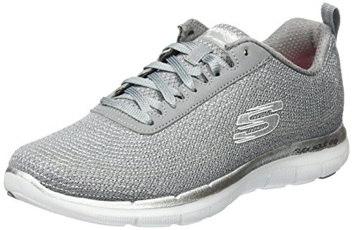 Skechers Damen Flex Appeal 2.0-Metal Madness Outdoor Fitnessschuhe Grau (gysl)