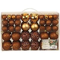Esclusivo palline di Natale palle di Natale Set con{100} pezzi di colore marrone